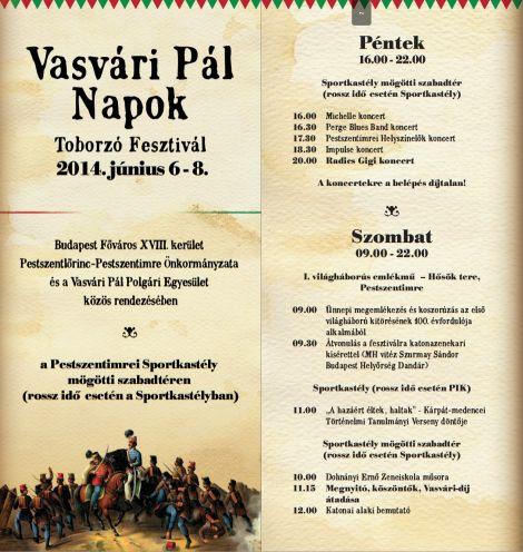 Vasvári Napok program1