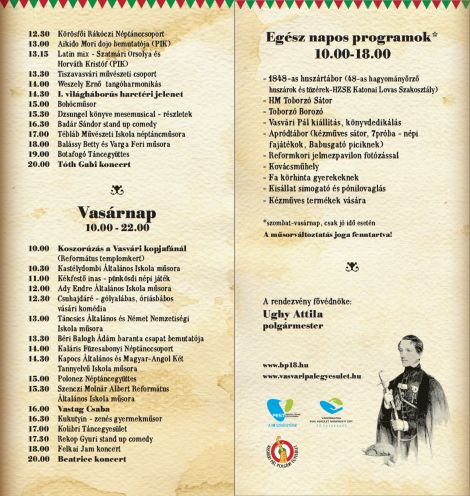 Vasvári Napok program2